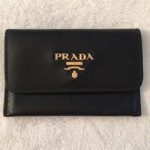 Prada Black Leather Wallet